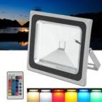 Оригинал 50W RGB LED Движение Датчик Наводнение Водонепроницаемы На открытом воздухе Сад Безопасность дорожного движения Лампа AC85-265V