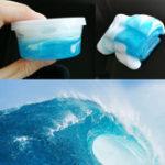Оригинал 120ML Sea Wave DIY Стиль Пушистая Слизь Свет Моделирование Полимерная глина Песок No Borax Antistress Toy