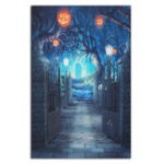 Оригинал 5x7ft Halloween Deep Banked Path Виниловая задница Фотография Prop Studio Photo Background
