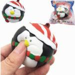 Оригинал SquishyFun Squishy Penguin Snowman Christmas 7cm Медленный рост с коллекцией подарков Подарочный декор So
