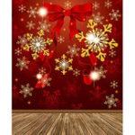 Оригинал 5x7ft Виниловая студия фоном Рождественская красная жизнерадостная фотография Prop Photo Background