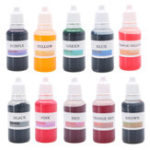 Оригинал 10Pcs Безопасный краситель для жидкой краски для DIY Ванна Мыло Изготовление окраски Живопись Plasticene