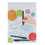 Оригинал Спирограф Дизайн Set Tin Draw Drawing Art Craft Создать образование Инструмент