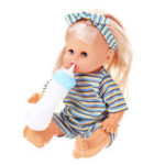 Оригинал 12Inches Lifelike Baby Dolls Smart со звуками Питьевая вода Peeing Sleeping Children Baby Girl Toy