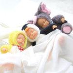 Оригинал Sleeping Baby Reborn Симпатичный длинноволосый плюшевый кролик Soft Игрушечные куклы Фаршированные игрушки для животных Мальчики для девочек