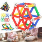 Оригинал 103PCSМагнитныестроительныеблокиSetConstruction DIY Палочки для детей Дети Обучающие игрушки для подарков