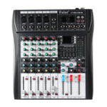 Оригинал 6-канальный Bluetooth DJ Mic Mixer LCD Дисплей MP3 AUX USB Stereo Club Stage KTV Karaoke