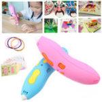 Оригинал Синий / Розовый 6-е поколение 5V 1A 3D-печать Ручка Ремесло DIY Моделирование с нитью для детей