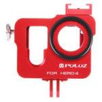 Оригинал PULUZ PU140 Корпус Shell Алюминиевый сплав Защитный каркас для страховочного страхования Объектив Cap для GoPro HERO4