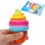 Оригинал YunXin Squishy Ice Cream 10см медленно растет с упаковочным телефоном Сумка Strap Decor Gift Collection Toy