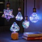 Оригинал E27 3W RGB Star Сердце Diamond Pumpkin Apple LED Декоративная лампа для рождественской вечеринки AC85-265V