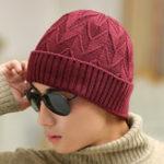 Оригинал Мужская зимняя бархатная теплая трикотажная шапочка Шапка