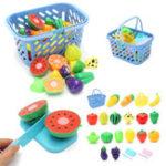 Оригинал 23Pcs / Set Kitchen Cutting Fruit Vegetable Food Pretend Ролевые игры Игрушки Kids Developmental Toy Gift