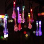 Оригинал Солнечная Powered 4.8M 20LEDs Капли воды Shaped Водонепроницаемы Fairy String Light для Рождества
