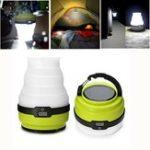 Оригинал Солнечная Приведенный в действие USB перезаряжаемые 3 режима Складной портативный На открытом воздухе LED Кемпинг Свет для пешего туризма