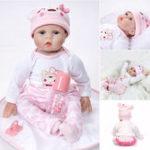 """Оригинал 22 """" Handmade Lifelike Newborn Baby Кукла Полное тело Силиконовый Винил Reborn Gift"""