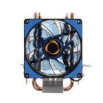 Оригинал 12V Dual LED Охлаждающий вентилятор радиатора радиатора 9 см для Intel LGA1155X / 1151 AMD Разъем