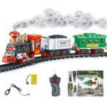 Оригинал ЭлектрическийДистанционноеУправлениеМоделированиеЖелезнодорожныйпоезд Chargeable Steam Авто Модель для курения Kids Christmas Gift