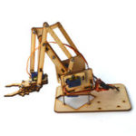 Оригинал 4DOF Рука деревянная Механический Рука Набор с SG90 Сервопривод для Arduino