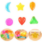 Оригинал 6PCS Crystal Slime Diamond Star Сердце Moon Simulated Mud Jelly Plasticine Stress Relief Gift Toy
