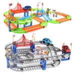Оригинал Разнообразие железнодорожных вагонов Томас собрал электрические скоростные железнодорожные обучающие игрушки для детей diy toys