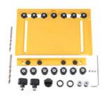 Оригинал 5 мм 6 мм сверление отверстий для направляющих Шкаф для аппаратного обеспечения Jig Woodworking Инструмент