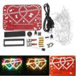 Оригинал 50V 60mA DIY Heart-Shaped Water Light Set 51 SCM Красный / Красочный свет Love Music Набор 11 Kinds Song 8/15 Виды Анимационный режим Switch