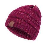 Оригинал Womens Warm Soft Вязаные многоцветные шляпы
