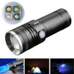 Оригинал XANES300LM4цветныхсветодиода300M Range Масштабируемые перезаряжаемый фонарик с зарядным устройством Рыбалка Лампа