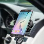Оригинал 360 градусов вращения Qi Беспроводной светодиодный индикатор Автомобильное зарядное устройство + Панель вентилятора для Samsung S8 iPhone 8 X