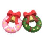 Оригинал Squishy Fun Christmas Jingle Bell Donut 13см подарок медленно растущая оригинальная упаковка Soft Decor Toy