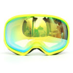 Оригинал Pro Skiing Goggles Double Объектив Анти Fog UV Green Объектив Желтая рамка