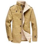 Оригинал Sim Fit Fleece Warm Winter Single Брестед с длинными куртками