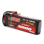 Оригинал Leopard Power 7.4V 5000mAh 40C 2S T Plug Lipo Батарея для 1: 8 / 1:10 RC Авто