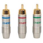 Оригинал Choseal QS6045 3Pcs RCA-терминал YPbPr AV-адаптер для подключения Коннектор Коаксиальный аудиокабель