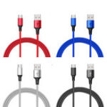 Оригинал Bakeey 2.4A Nylon Плетеный Micro USB Fast Charging Sync Data Charger Cable для Samsung Xiaomi HUAWEI