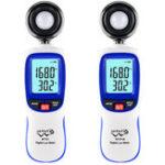 Оригинал WT81 WT81B Bluetooth Цифровой люксовый люминесцентный светильник Mini Light Meter 0-200000 Lux Тестер температуры Испытательное оборудование для окружающей ср