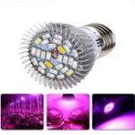 Оригинал E27 4.5W / 5.5W 18LED Full Spectrum Grow Light Blub для крытого гидропоника Растение Flower AC85-265V