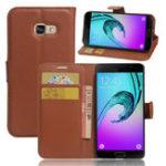 Оригинал LycheeКожаныймагнитныйфлип-кронштейнCardSolt Wallet Чехол для Samsung Galaxy A3 A5 A7 2017
