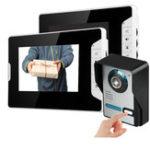 Оригинал 7inch LCD Проводной видеодомофон IR камера Дверной телефон Два внутренних Монитор Ночного видения