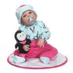 """Оригинал 23 """" Reborn Newborn Dolls Handmade Lifelike Baby Full Силиконовый Виниловая кукла для девочки"""