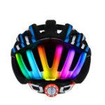 Оригинал ROCKBROSРадугаогниВелоспортвелосипедшлем Ультралегкий MTB Road Bike Flash фонарь шлем