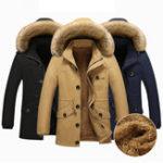Оригинал Зимний флис Толстый теплый пушистый капюшон Тонкий Мужчины На открытом воздухе Parkas