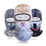 Оригинал 3D животных Breathable Велосипед Лыжный Полное лицо Маска Шляпы