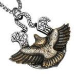 Оригинал Мужская титановая сталь Eagle Кулон Никогда не затушевывает панк-ожерелье