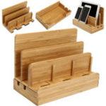 Оригинал Многофункциональный Bamboo Зарядное устройство для док-станции Настольный телефон владельца Органайзер для планшетного ПК
