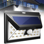 Оригинал Солнечная Powered 24 LED PIR Motion Датчик Настенный светильник Водонепроницаемы На открытом воздухе Лампа для Сад Пейзаж