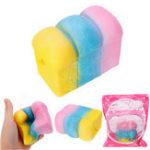 Оригинал YunXin Squishy Rainbow Toast Loaf Хлеб 10 см Медленный рост с упаковкой Коллекция подарков Декор Игрушка