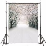 Оригинал 7x5FT Ice Snow Forest Тематическая фотография Vinyl Backdrop Studio Background 2.1mx 1.5m