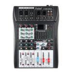 Оригинал 4-канальный Bluetooth DJ Mic Mixer LCD Дисплей MP3 AUX USB Stereo Club Stage KTV Караоке